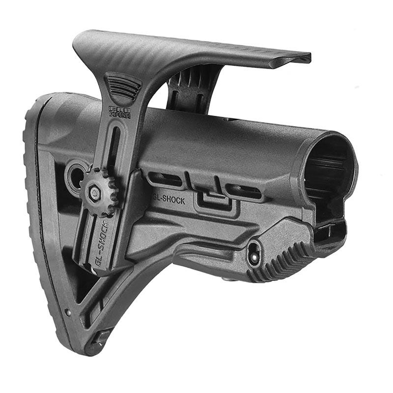 FAB Defense GL-SHOCK CP M4/AR15 Shock-Absorbing Buttstock W/ Cheek Rest