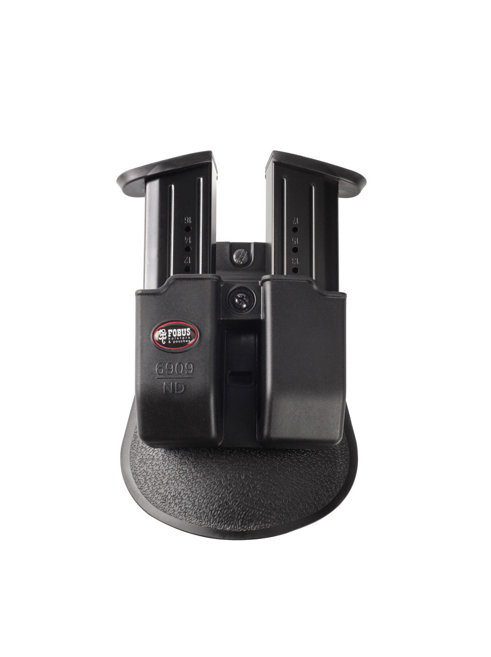 Fobus Double Magazine Pouch for Most 9mm Double Stack Magazines (not Glock) such as Ruger SR9, American Pistol 9mm, CZ P07, S&W M&P, Walther PPQ and similar others