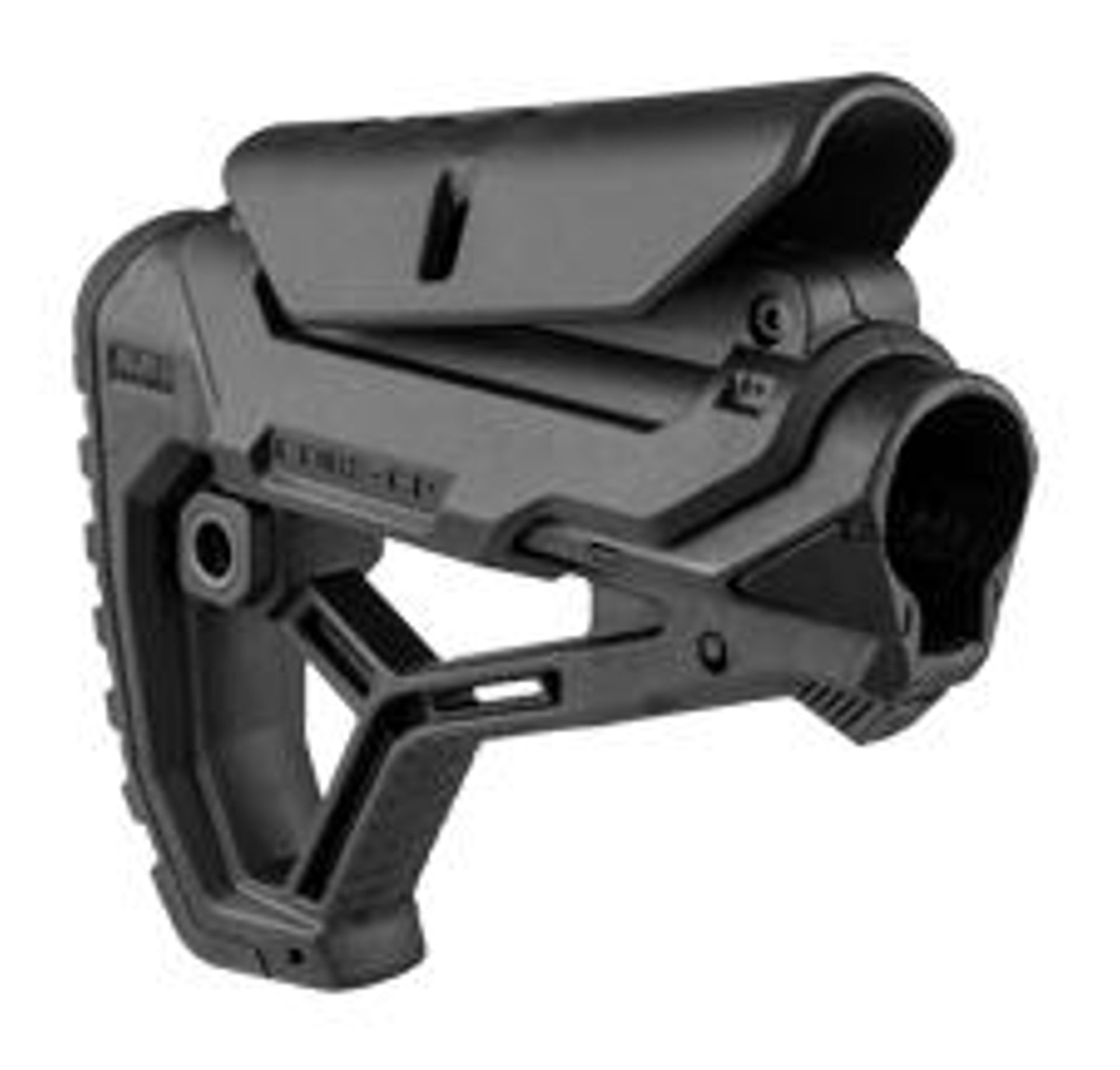 Collapsible Butt Stock for Mil-Spec or Com-Spec buffer tubes w/ Adjustable Cheek Piece