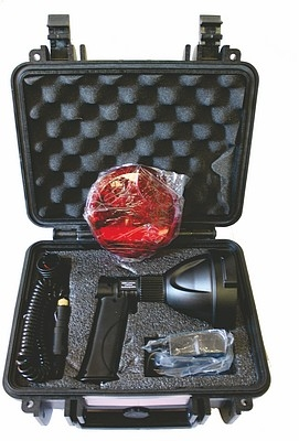 GAMEPRO NINOX RECHARGE SPOT 2000 LUM 25W LED AC/DC W/BAG & RED FILTER & HANDLE IN CASE