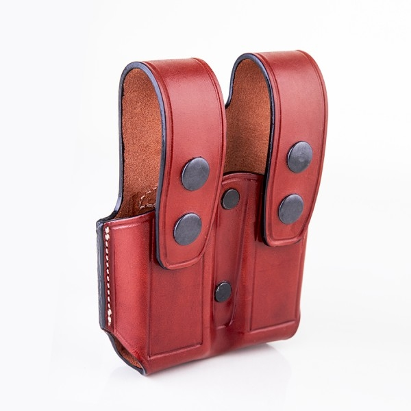 Kiro Double Magazine Hand Made Leather Thumb Break Pouch