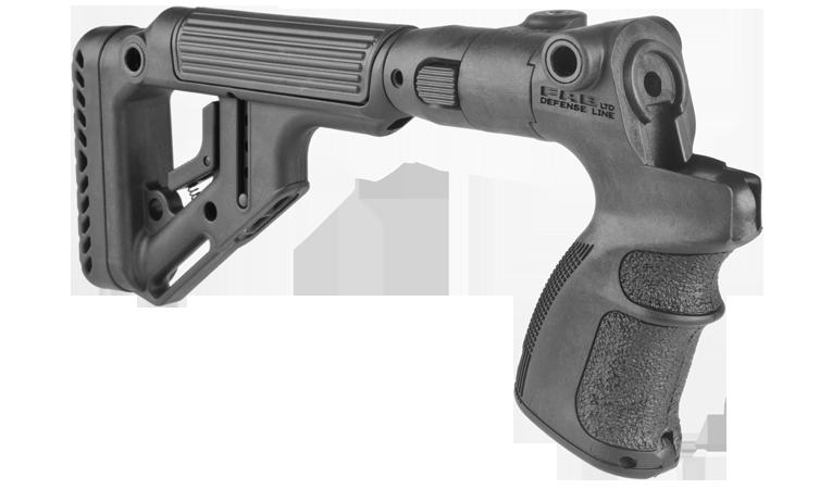 Tactical Folding Buttstock w/ Cheek Piece for Mossberg 500